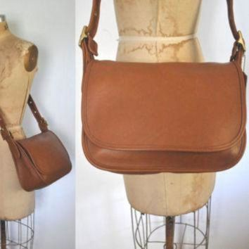 Brown Coach Messenger Satchel Bag / British Tan Leather - Beauty Ticks