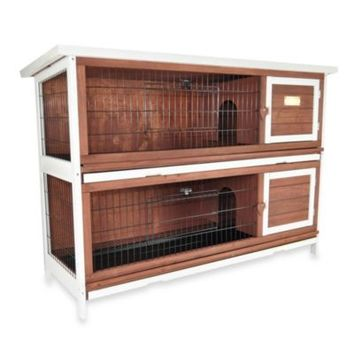 Advantek 'Duplex' Rabbit Hutch in Auburn