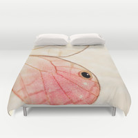 Pink Glasswing 1 Duvet Cover by Erin Johnson