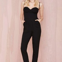 Nasty Gal Pitch Dark Sweetheart Jumpsuit