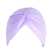 Lavander Pleated Turban