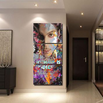 3 Pieces Prince Music Star Poster Modern Wall Art Home Wall Decor Picture