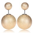 Mise en Gum Tee Style Tribal Earrings  - Shatter Gold