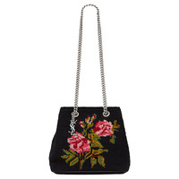 Saint Laurent YSL Embroidered Baby Bucket Chain Bag 425068