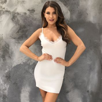 Wanting More Bodycon Dress In Ivory