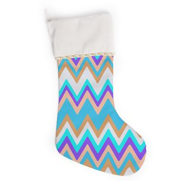 "Nika Martinez ""Girly Surf Chevron"" Christmas Stocking"