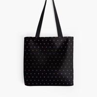 'Knot Star Pattern Plum on Black' Tote Bag by craftymummy