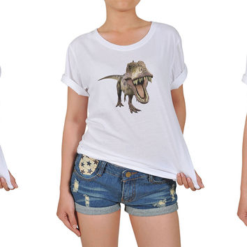 Women's Dinosaur-1 Printed Cotton T-shirt WTS_12