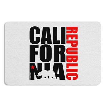 California Republic Design - California Red Star and Bear Placemat by TooLoud