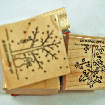 "Stampin Up Stamp Set - Rubber Stamps - ""A Tree For All Seasons"" - Retired, Never Used, Mint Condition Scrapbooking Crafts Cardmaking"