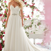 Voyage by Mori Lee 6812 Soft Tulle A-Line Wedding Dress
