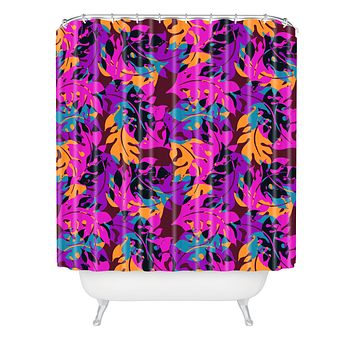 Aimee St Hill Falling Leaves Shower Curtain