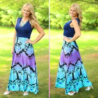 Dam-Ask Me To Dinner Maxi in Navy