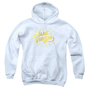 JANE THE VIRGIN/GOLDEN LOGO-YOUTH PULL-OVER HOODIE - WHITE -