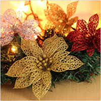 Artificial Flowers For Christmas Tree Decorations