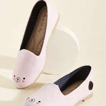 Loly in the Sky Oso Adorable Loafer in Blush