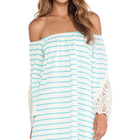 VAVA by Joy Han Meredith Off Shoulder Dress in Turquoise