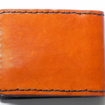 Handcrafted Carved Leather Mens Billfold Wallet Tooled Horse Bi-fold British Made