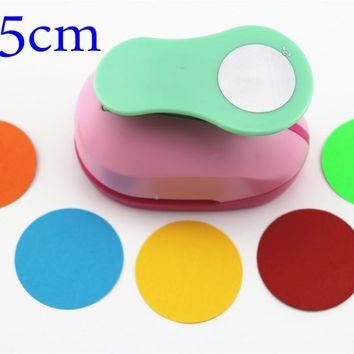 free ship large 2'' 5cm circle furador paper puncher scrapbooking punches craft perfurador diy puncher paper circle cutter3178B