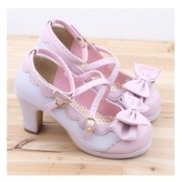 Spring Lolita Girl Candy Color Comfortable Shoes
