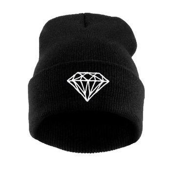 Brand New Gorros 2018 Fashion Beanie Men Casual Winter Hat Warm Diamond Knitted Hats For Women Hip Hop Skullies Beanies Toca