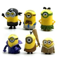 Buy Home Despicable Me 2 Minions Movie Set of 6 Action Figures Toys Dolls