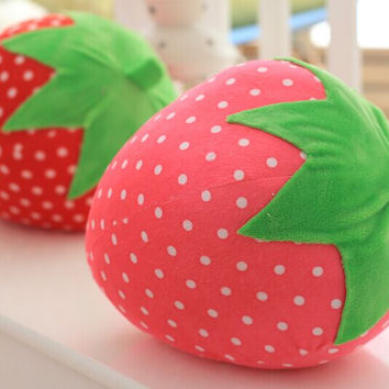 Plush Strawberry Pillow