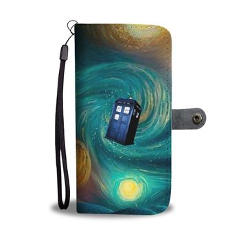 KUYOU The TARDIS In The Starry Night Wallet Phone Case