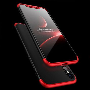 For iphone X Case Luxury 360 Full Body PC Matte Hard Back Cover For Iphone 8 7 6 6s Plus 5 5s SE Phone Cases Shockproof Armor