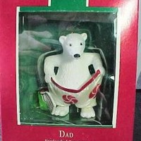 eBlueJay: 1989 Dad Polar Bear Hallmark Keepsake Ornament Resin Bear in Knitted Sock