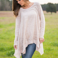 Holding On Tunic, Beige