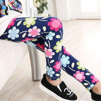 Navy Daisy Floral Leggings