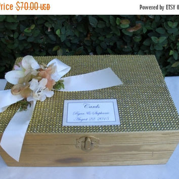 ON SALE Gold Wedding Card box / 50th anniversary Card box / Gold wedding decor