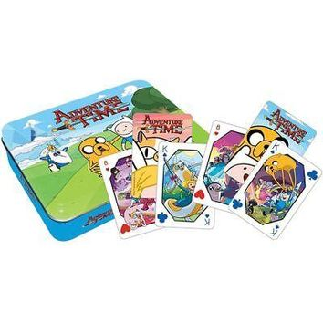 Adventure Time Cast Playing Cards in Tin Box, Card Games by NMR Calendars