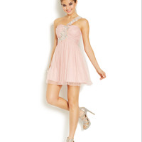 B Darlin Juniors' Rhinestone-Trim Dress