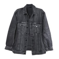 Daze Grey Denim Jacket