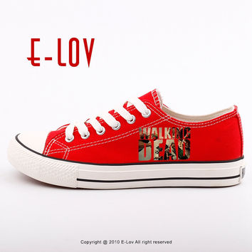 Woman Girls Shoes For Valentine Gifts of Personality Printed The Walking Dead Canvas Shoes