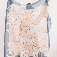 Picasso Cats Scarf by leahgoren on Etsy