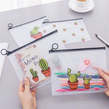 1PC Simple Cactus Storage Bag Baby Shower Wedding Decoration Eid Mubarak Holiday Hawaiian Party Birthday Party Favors and Gifts