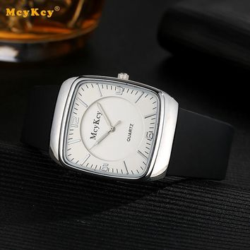 MCYKCY Popular Brand Electronic Business Casual QuartzWatch Leather Black Watch Quartz Watch Men Luxury Fashion Male Sport Clock