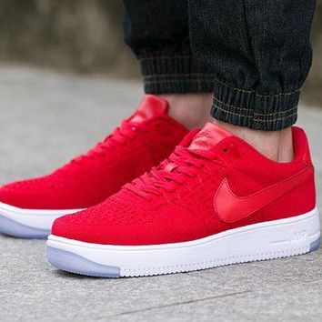 DCCKBE6 Nike Air Force 1 817419-600 Red For Women Men Running Sport Casual Shoes Sneakers