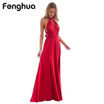 Casual Sexy Beach Club Wedding Bandage Maxi Dresses boho Vintage Women Dress Long Evening Party Dress Plus Size Vestidos