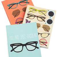 ModCloth Nifty Nerd Eyes on the Prize Journal Set