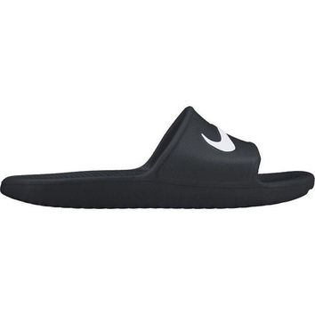 NOVO5 Nike KAWA SHOWER Men's Slide Black/White Slipper 832528 001 Free Shipping