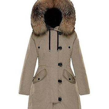 Moncler Aredhel Removable Fox Fur Nylon Women's Jacket