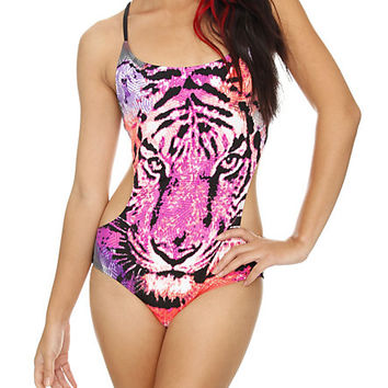 LOVEsick Tiger Face Monokini | Hot Topic