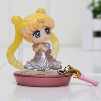 6cm Sailor Moon Princess Serenity Girls wedding PVC Action Figure Model Toy Sailor Moon Figure