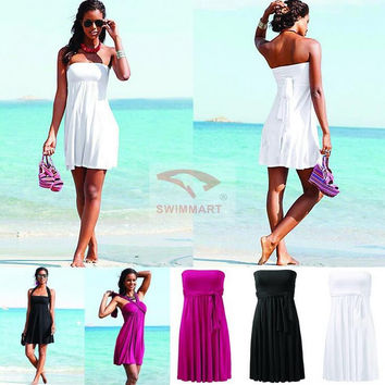 2017 Brand Original Design Top lined with Removable padding Bandage Cover Ups Dress for Beach and Holiday