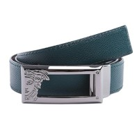 Versace Collection Men's Adjustable and Reversible Leather Belt