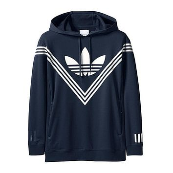 Adidas Classic Three Stripe Trending Women Men Casual Hoodie Sweater Pullover Top(2-Color) I-CR-CP-WM-YD